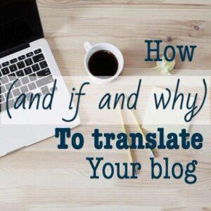 transalte a blog