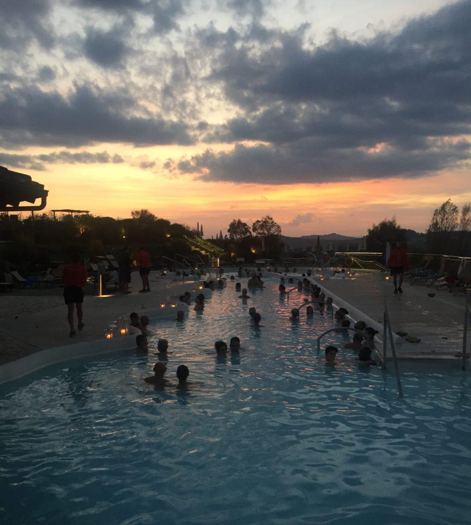 Terme di San Giovanni, Rapolano - tramonto