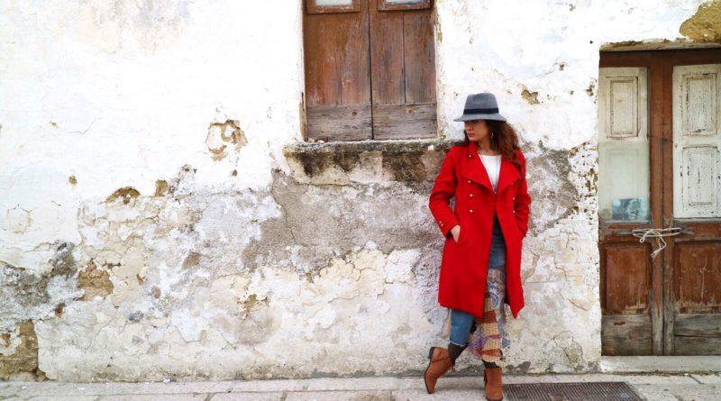 Sabrina Barbante - cappotto rosso - gipsy - abbigliamento