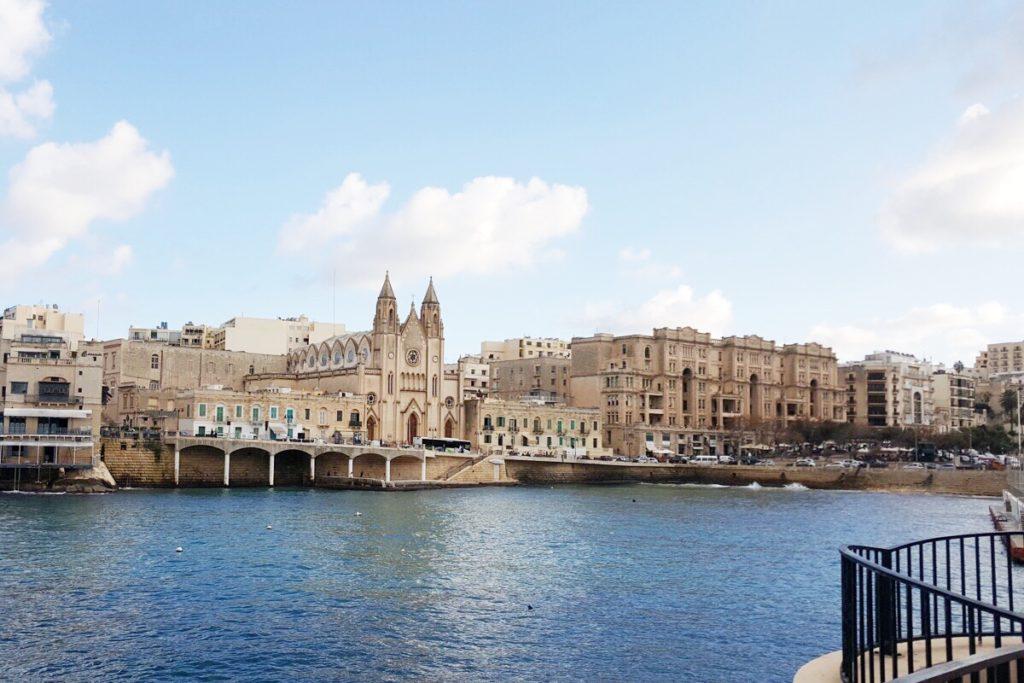 Vista della costa di Sliema - Malta